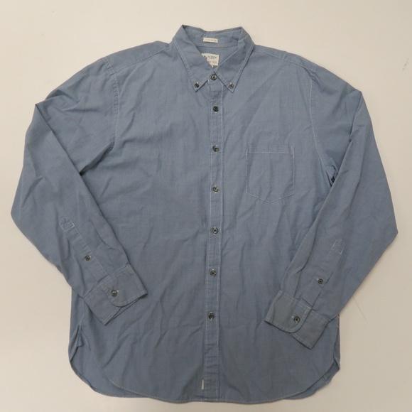 J Crew 2-Ply Cotton L/S Button Front Shirt